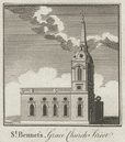 St. Benet Gracechurch. Wren. Demolished 1868. City/London. SMALL. THORNTON 1784